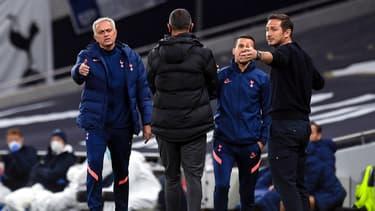 José Mourinho face à Frank Lampard, le 29 septembre 2020