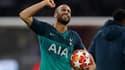 La joie de Lucas après la qualification de Tottenham