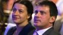 La ministre et ancienne dirigeante d'EELV Cécile Duflot, ici avec le ministre de l'Intérieur Manuel Valls. A l'heure où les voix de ses élus risquent de manquer pour l'adoption du traité budgétaire de la zone euro (TSCG), Europe Ecologie-Les Verts a indiq