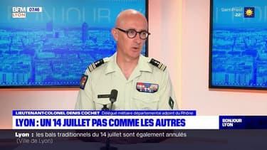 """Une deuxième vague à venir? """"Nous y sommes prêts, nous avons tout le matériel nécessaire"""", assure le lieutenant-colonel Denis Cochet, délégué militaire départemental adjoint du Rhône"""