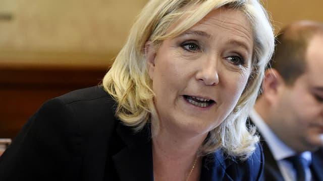 Marine Le Pen le 7 avril 2016, à Paris (PHOTO D'ILLUSTRATION).