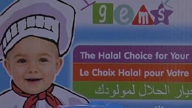 Sur le salon du Halal, un industriel propose des petits pots pour bébé certifiés halal.