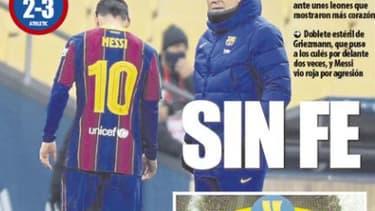 """Sans foi"", la Une du Mundo Deportivo ce lundi"
