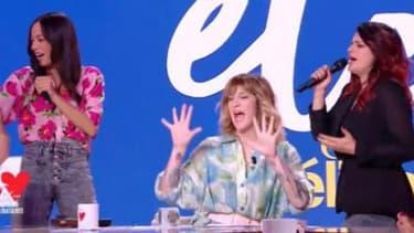 Daphné Bürki et Larusso, dans l'émission Je t'aime, etc. vendredi 4 avril 2019.