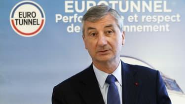Jacques Gounon, PDG d'Eurotunnel.