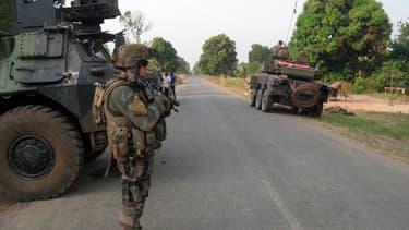Des soldats français de l'opération Sangaris en Centrafrique.