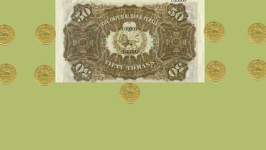 Un billet de toman datant d'avant 1932