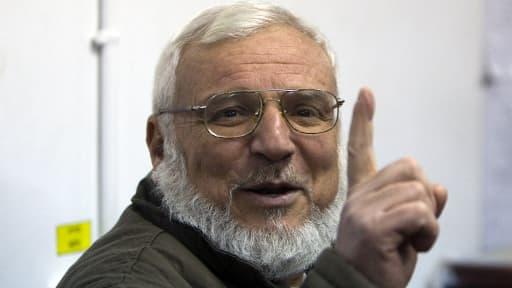 Le président du Parlement palestinien Aziz Dweik, arrêté par Tsahal dans la nuit de dimanche à lundi.