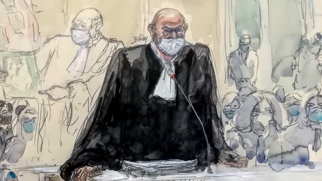 Richard Malka au procès des attentats de janvier 2015, le 4 décembre 2020.