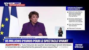 """Roselyne Bachelot: """"Au total, 115 millions d'euros vont être injectés pour soutenir le spectacle vivant et la culture"""""""