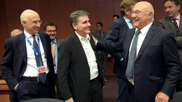 Le ministre grec des finances, Euclid Tsakalotos, a obtenu le feu vert de l'Eurogroupe.