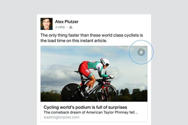 Sur Facebook, un clic suffit à déployer l'article