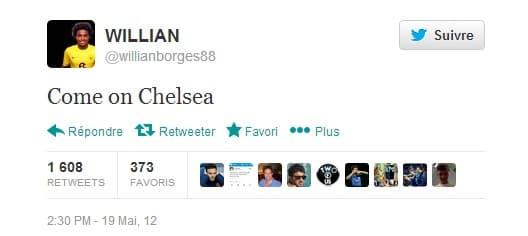 Quand Willian encourage Chelsea