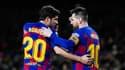 Sergi Roberto avec Lionel Messi