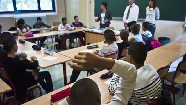 Une classe de collégiens lyonnais, le 2 septembre 2010 le jour de la rentrée scolaire.