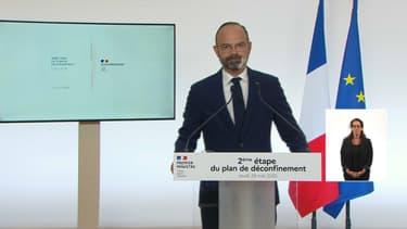 Edouard Philippe, lors de son allocution du 28 mai.