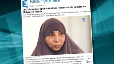 """La mère de Mohamed Merah témoigne pour la première fois dans le documentaire  """"Affaire Merah, itinéraire d'un tueur""""."""