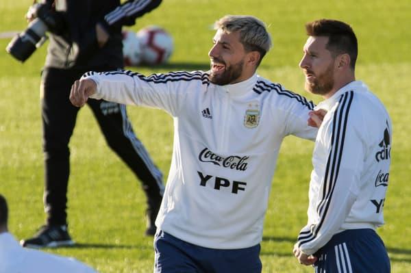 Sergio Aguëro  et Lionel Messi