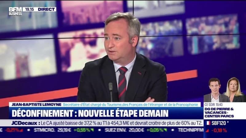 Jean-Baptiste Lemoyne (Secrétaire d'État chargé du Tourisme, des Français et de la Francophonie) : Déconfinement, nouvelle étape demain - 18/05