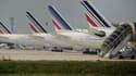 Des avions Air France sur la piste de Roissy-Charles-de-Gaulle