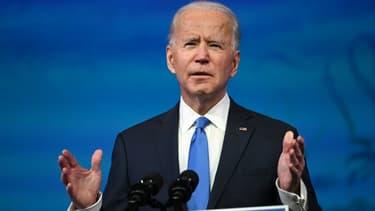 Joe Biden s'exprimant le 14 décembre 2020 à Wilmington, dans le Delaware