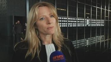 Sandrine Caron, avocate de la mère de l'enfant, au micro de BFMTV, à Nantes, le 19 février 2013