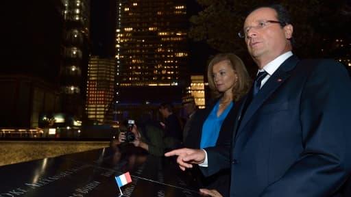 François Hollande et Valérie Trierweiler à Ground Zero mardi 25 septembre