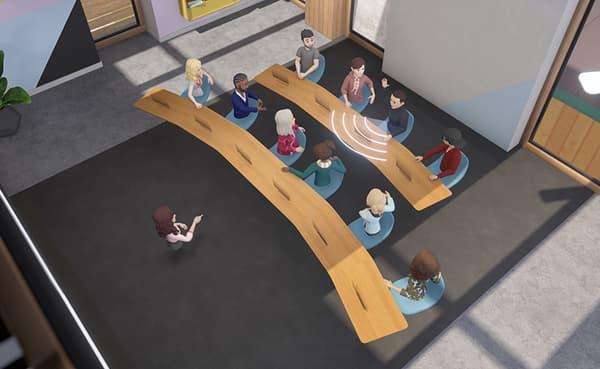 Workrooms, un espace de travail en réalité virtuelle.