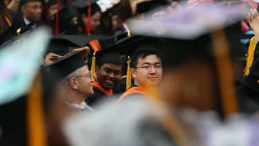 Une cérémonie de remise de diplômes à New York le 3 juin 2016 au City College (photo d'illustration)