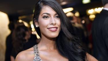 Ayem Nour à la cérémonie des Globes de Cristal à Paris, le 13 avril 2015