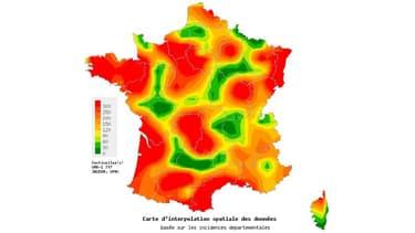 Nombre de diarrées aigues observée par Sentinelles pour la semaine du 06/01/2014 au 12/01/2014, pour 100.000 habitants.