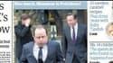 """""""The Guardian"""" affiche sur sa une une photo peu avantageuse de François Hollande."""
