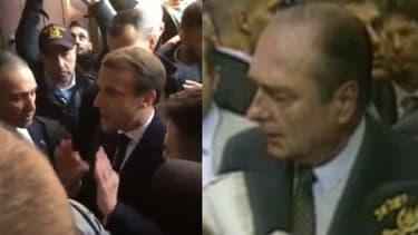 Emmanuel Macron et Jacques Chirac à Jérusalem
