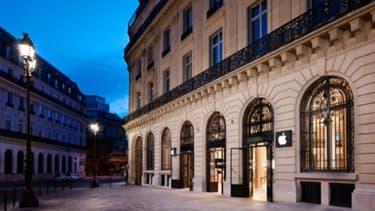 L'Apple Store rue d'Halévy, à Paris-Opéra
