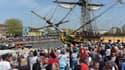 Le succès de l'épopée de l'Hermione, de passage à La Rochelle le 15 avril 2015, a contribué à la bonne fréquentation touristique de la Charente-Maritime.