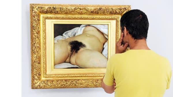 """""""L'Origine du monde"""", tel que visible au musée d'Orsay."""