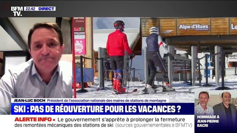 """Jean-Luc Boch (Association des maires de stations de montagne): """"Si la montagne reste fermée, ça va être une véritable catastrophe sociale"""""""
