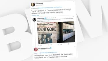 Tim Murtaugh a brandi une fausse une sur Twitter pour attaquer les médias