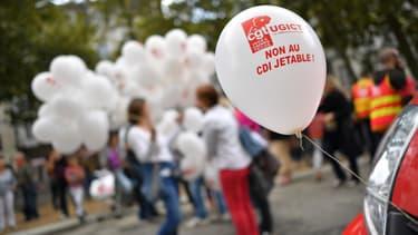 Manifestation contre la réforme du Code du travail, le 12 septembre 2017 à Nantes.
