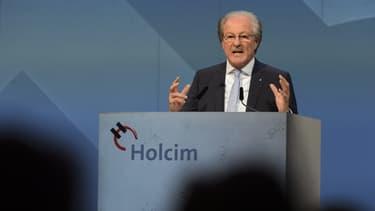 Wolfgang Reitzle, le président d'Holcim, s'est dit ému en annonçant le résultat des votes.
