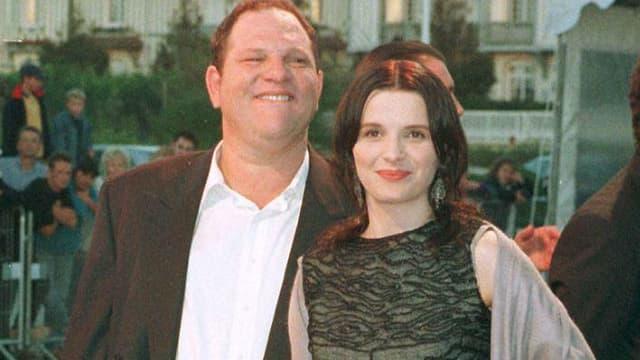 "Juliette Binoche et Harvey Weinstein à Deauville pour la projection de ""Rounders"" en 1998"
