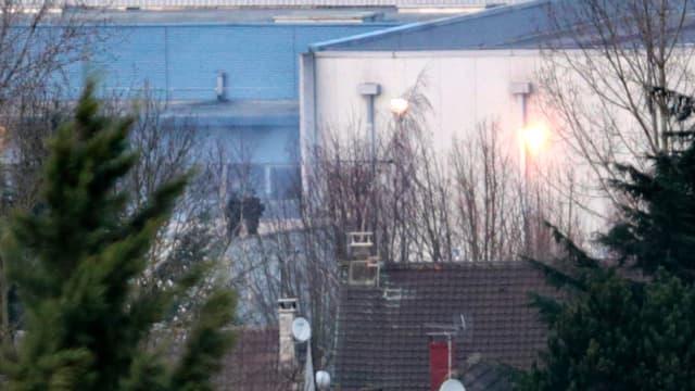 L'imprimerie CTD pendant le jour de l'assaut du GIGN, soit le 9 janvier 2015.