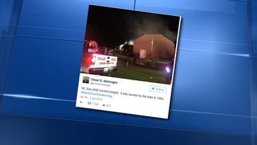 L'église Mount Zion African, située à Greeleyville, en Caroline du Sud, a été ravagée par les flammes, la nuit dernière.