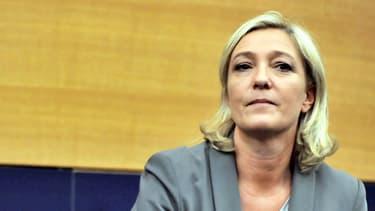 Marine Le Pen au parlement de Strasbourg le 11 juillet.