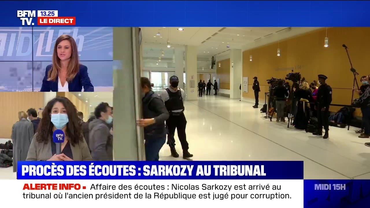 Procès des écoutes: Nicolas Sarkozy est arrivé au tribunal