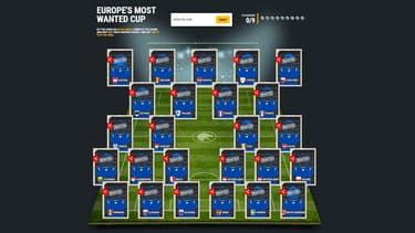 """Les profils non-débloqués des 25 fugitifs les plus recherchés d'Europe, dans le """"jeu"""" mis en place par Europol."""