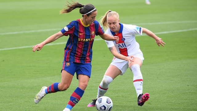 Bonmati et Dudek au duel pendant Barça-PSG