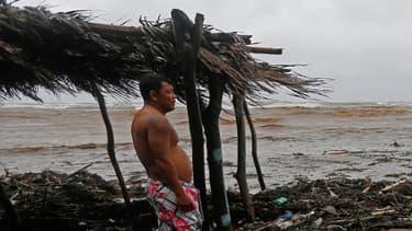 Les dégâts de Nate sur la plage à Masachapa, au Nicaragua, le 5 octobre 2017.