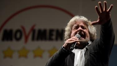 Beppe Grillo, lors d'un meeting de son parti le 22 février.