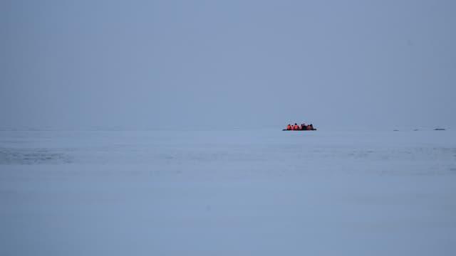 Migrants en mer. (Photo d'illustration)